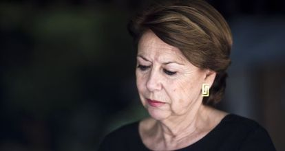 Magdalena Álvarez, en un momento de la entrevista.