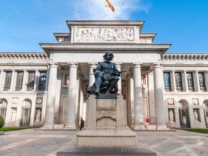 Fachada del Museo del Prado en Madrid.