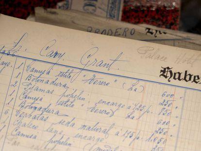 Pedidos de camisas y otras prendas de Cary Grant en 1956 en la camisería Burgos