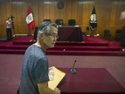 Alberto Fujimori, al arribar al tribunal