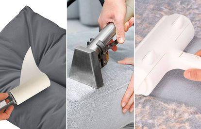 Encuentra cepillos, limpiadores, rodillos y otros productos para limpiar los textiles del hogar.