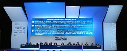 Junta de accionistas de Telefónica