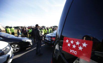 Huelga de taxi este miércoles en Madrid.