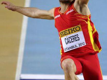 Eusebio Cáceres, en una prueba en Estambul en 2012.
