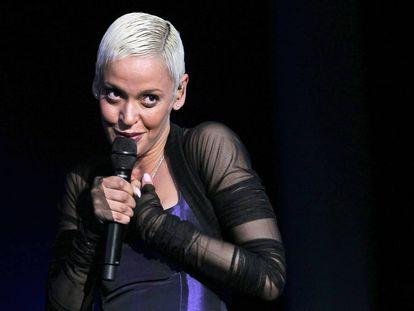 La cantante portuguesa Mariza, en un concierto en Madrid, en 2010.