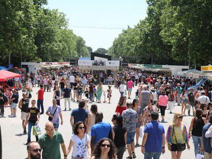 Imagen de archivo de la Feria del Libro de Madrid.