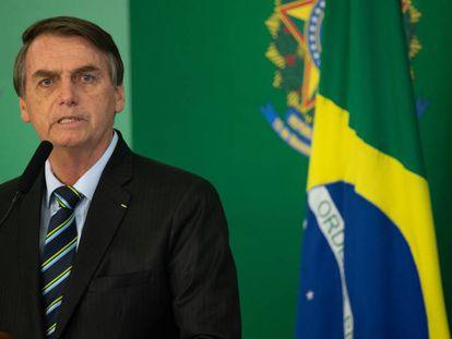 El presidente de Brasil, Jair Bolsonaro, en Brasilia, el pasado 28 de febrero.