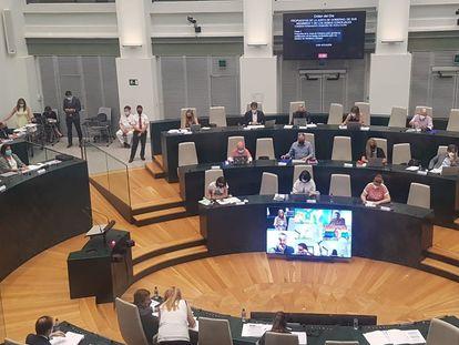 El pleno del Ayuntamiento de Madrid, este martes.