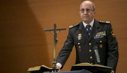 Florentino Villabona, el pasado 31 de enero en el acto de toma de posesión de su cargo de director Adjunto Operativo (DAO).