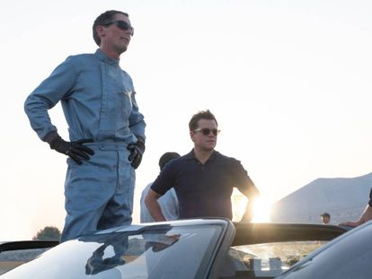 Christian Slater y Matt Damon, en 'Le Mans'66'.