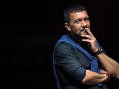 Antonio Banderas, en el estreno de su nuevo musical, 'Company', en el Teatro Soho CaixaBank, el 29 de septiembre de 2021.