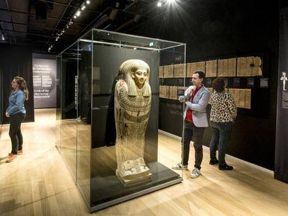 Exposición 'Dioses de Egipto', en el Museo de la Antigüedad, de la ciudad holandesa de Leiden.