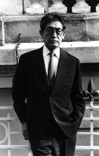 Nagisa Oshima, en el Festival de cine de San Sebastián en el 88.