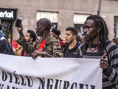 Manifestación antirracista en Barcelona el pasado noviembre.