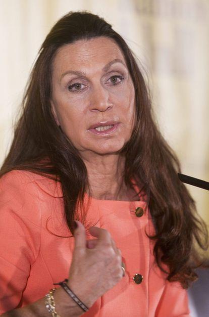 Núria Amat en la presentación en Palma de Mallorca de la novela ganadora del premio Ramon Llull.