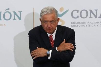 López Obrador, durante un acto en preparación para los Juegos Olímpicos de Tokio.