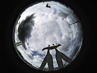 Monumentos en Brasilia.