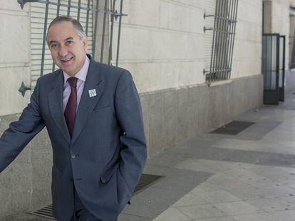 El magistrado Juan Gutiérrez Casillas, esta semana en los juzgados sevillanos.