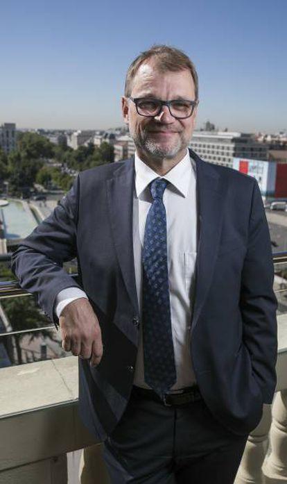El primer ministro finlandés, Juha Sipilä, en Madrid el pasado jueves.
