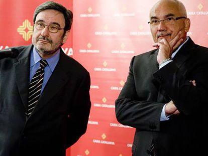 Narcís Serra (izquierda) y Adolf Todó en 2010. Marcel·lí Sàenz.