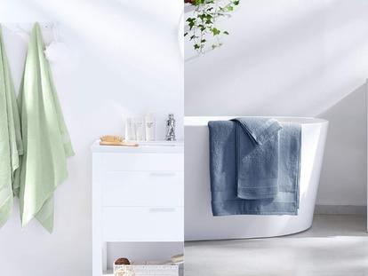 Este juego de toallas Amazon Basics absorben la humedad