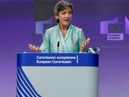La vicepresidenta de la Comisión Europea, Margrethe Vestager, y responsable de Competencia.