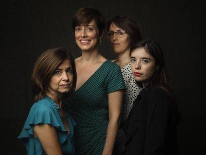 De izquierda a derecha, Marta Orriols, Marta Carnicero, Eva Baltasar y Luna Miguel.