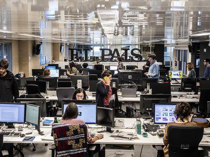 Redacción del diario EL PAÍS en Madrid.