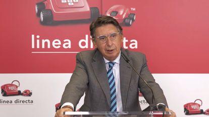 El consejero delegado de Línea Directa, Miguel Ángel Merino, en la presentación de resultados de septiembre de 2021.