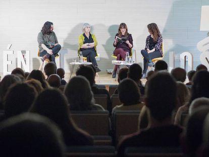 Manuel Jabois, Nell Leyshon, Raquel Vicedo y Sabina Urraca.