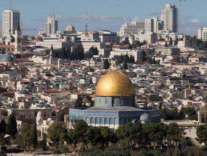 Vista del casco antiguo de Jerusalén.