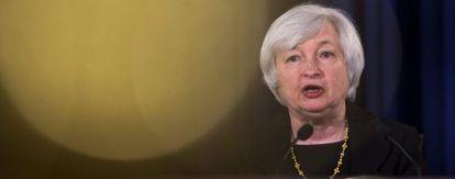 La presidenta de la Reserva Federal (Fed) de EE UU, Janet Yellen.