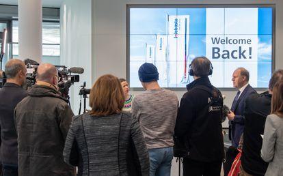 Holger Engelmann, CEO de Webasto, tras la reapertura de la empresa.