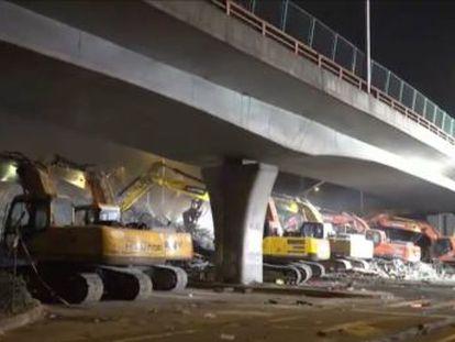 El colapso se produjo en la ciudad china de Wixi sobre la autopista 312, una de las principales vías de circulación del país.