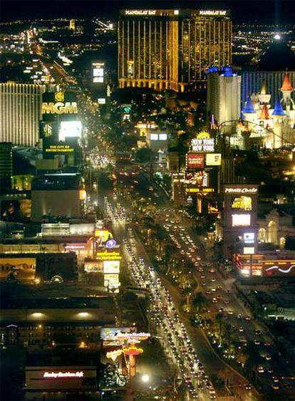 El South End de Las Vegas Strip, el corazón de los casinos y los hoteles de la <i>capital del juego.</i>