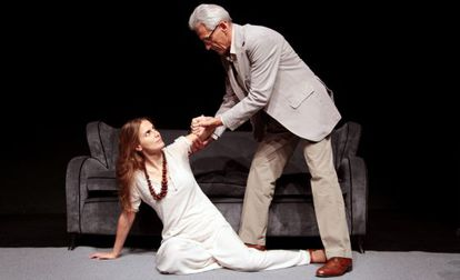 María y Juan Pastor en 'Duet for one'. Teatro Guindalera.