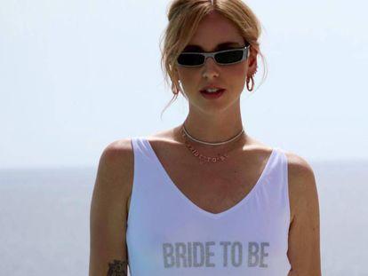 Chiara Ferragni en su despedida de soltera en Ibiza, en julio de 2018.
