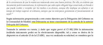 Respuesta del Gobierno a la petición de información de EL PAÍS.