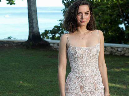 Ana de Armas, en la presentación de la última película de James Bond, en Jamaica, en abril.