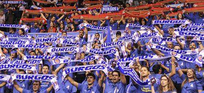 La afición del Coliseum de Burgos, en un partido de la ACB