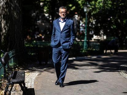 Carlos Moedas, nuevo alcalde de Lisboa, en el Jardim das Amoreiras a finales de septiembre.