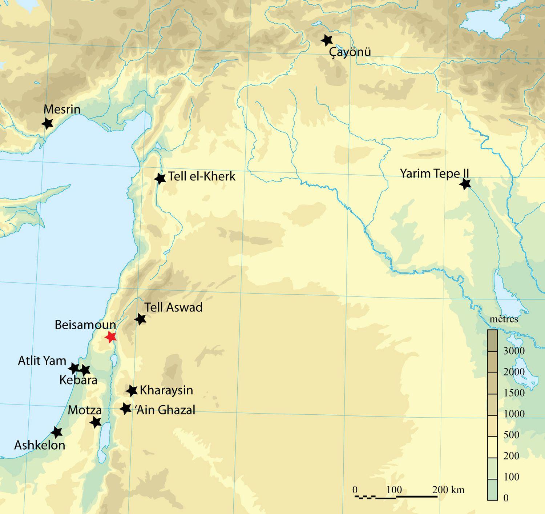 El mapa de los sitios mencionados en el estudio.