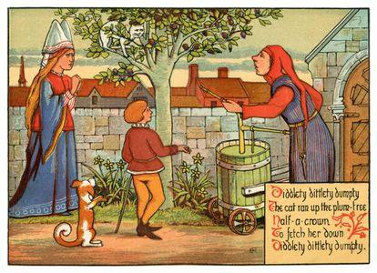 Ilustración del XIX de un cuento medieval.