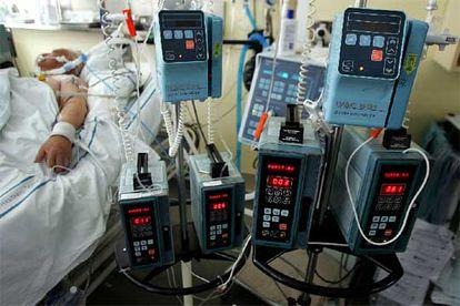 Unidad de cuidados intensivos del hospital Gregorio Marañón de Madrid. En estas unidades se encuentran los pacientes más vulnerables.