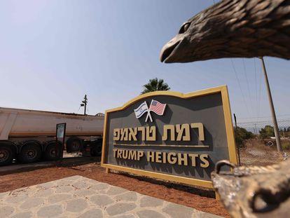 Lugar reservado en los Altos del Golán para un asentamiento en homenaje a Donald Trump.