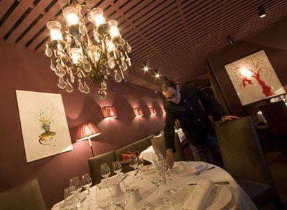 Comedor de T'amerò, cuyo nombre es un homenaje a Domenico Modugno, tercer local en Madrid de Ángelo de Salvo.