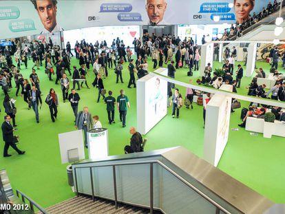 Participantes en la edición del congreso anual de la Sociedad Europea de Medicina Oncológica, en 2012, en Viena.