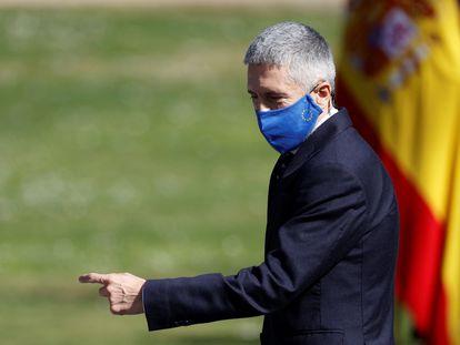 El ministro del Interior, Fernando Grande-Marlaska, durante el acto en memoria de las víctimas del terrorismo celebrado el pasado 11 de marzo en Madrid.