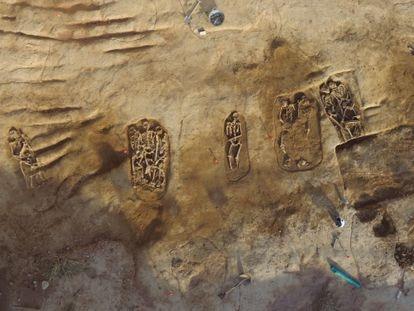 Los enterramientos de La Sagrera, a vista de dron.