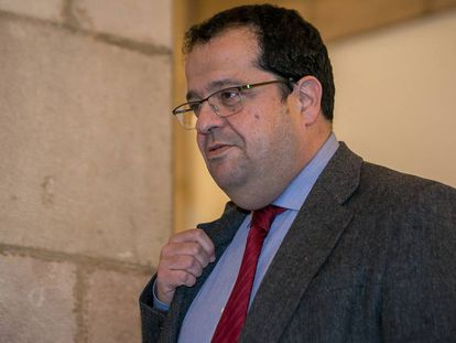 Joan Ignasi Elena, coordinador del Pacto Nacional por el Referéndum, en una fotografía de febrero pasado.
